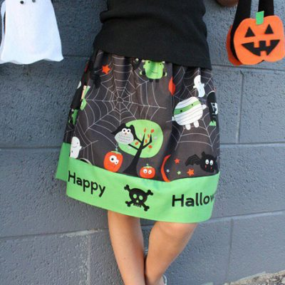 Quick and Easy Halloween Skirt Tutorial