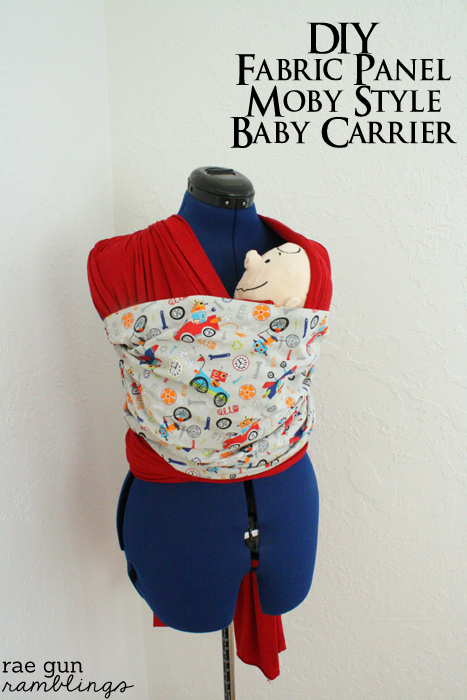 Moby Style Baby Carrier with Accent Fabric Tutorial - Rae Gun Ramblings