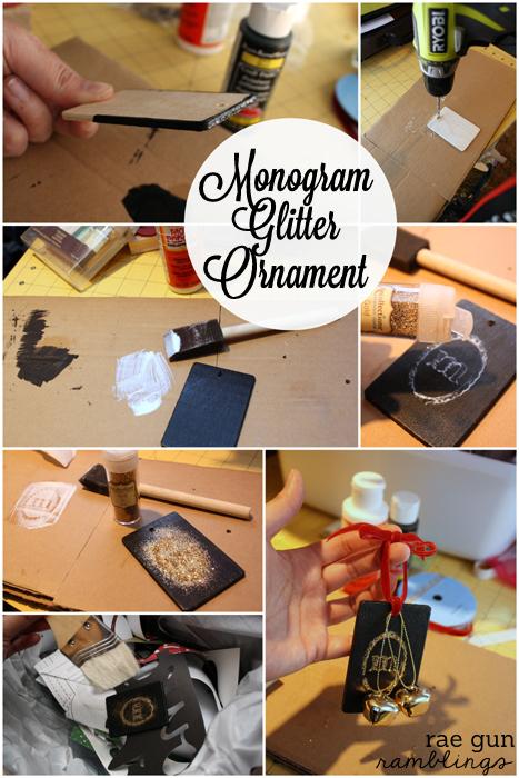 Monogram Glitter Ornament Tutorial at Rae Gun Ramblings