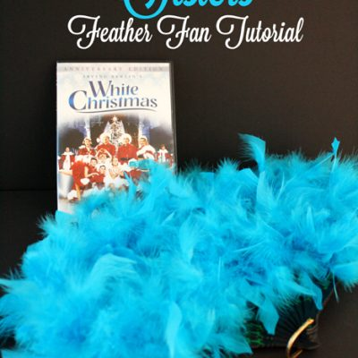 White Christmas Sisters Feathered Fan Tutorial