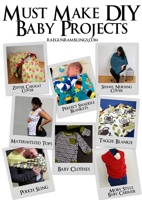 Great collection of simple projects to make for baby with tutorials - Rae Gun Ramblings