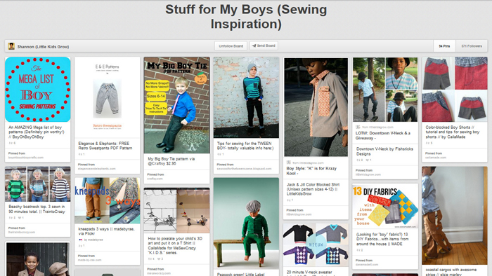 Great resource for boys sewing projects and tutorials