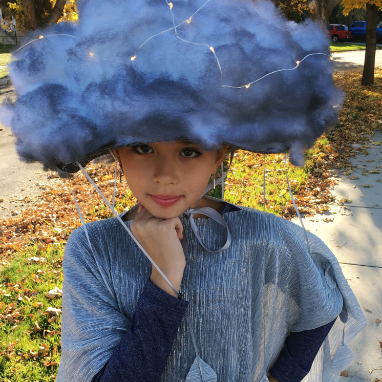 girl with stuffing hat