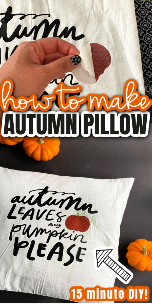 Autumn Leaves and Pumpkin Please DIY Fall Pillows Home Decor quick and easy sewing project perfect for Halloween and Thanksgiving. via @raegun