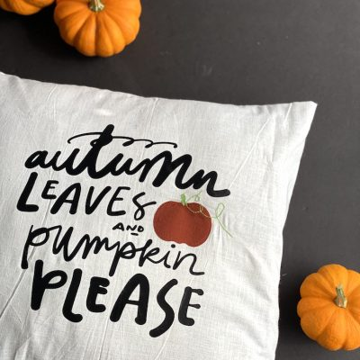 Quick and easy fall pillow tutorial