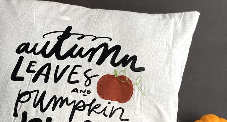 Fall Pillow Tutorial Autumn Leaves