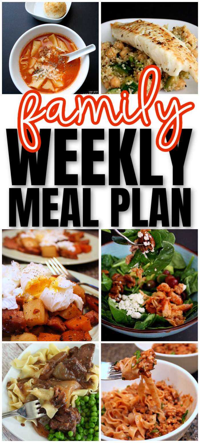 family weekly meal plan great resource for figuring out what's for dinner