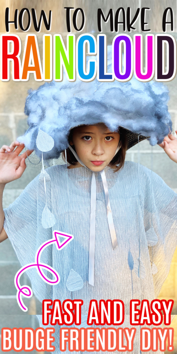 Step by step instructions for making a cloud costume. Great creative unique Halloween costume idea. 30 minute tutorial.