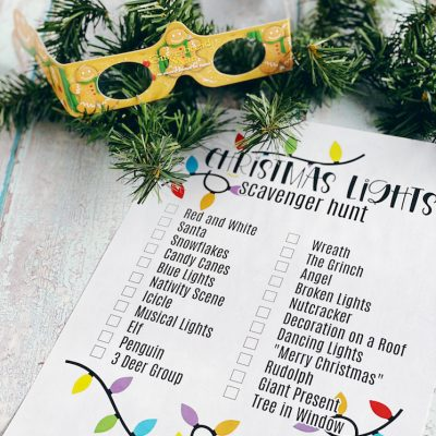 Christmas Lights Scavenger Hunt Printable