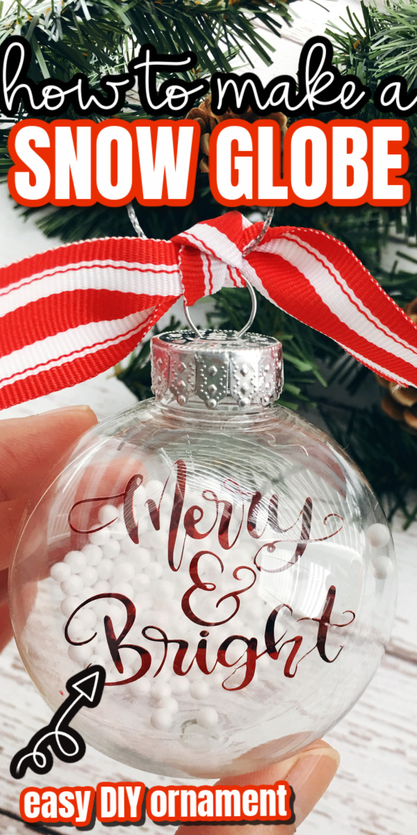 How to make a floating ornament looks like a snow globe using a Cricut and simple dollar store crafting supplies. via @raegun