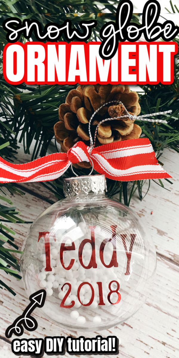 Teddy Christmas ornament and pine cone