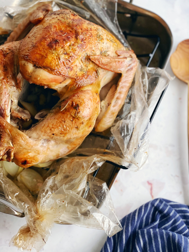 It's a keeper this is the world's best roasted turkey recipe. No basting, no fuss, super flavorful with a perfectly browned and crisp skin.